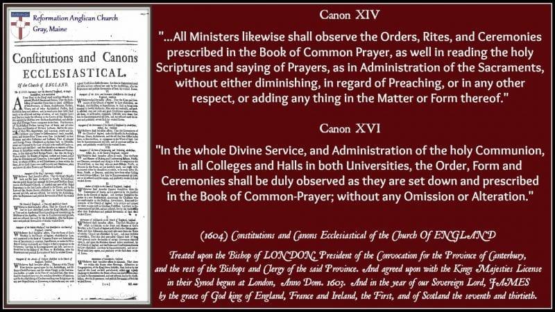1604 Canons XIV & XVI