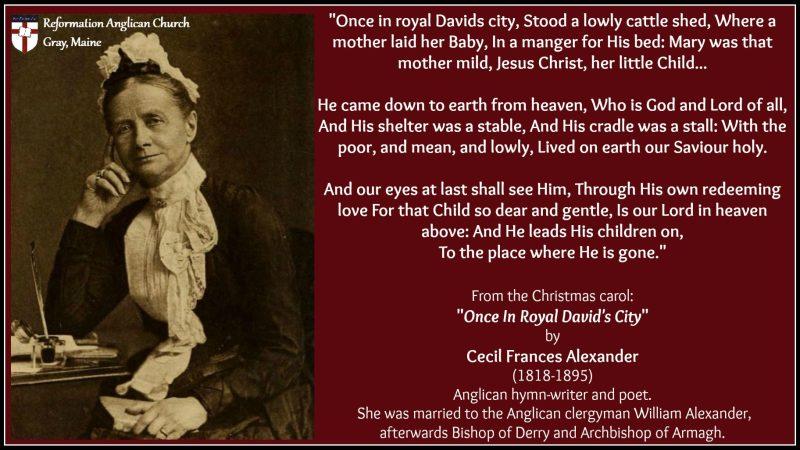Anglican Hymn writer - Cecil Frances Alexander