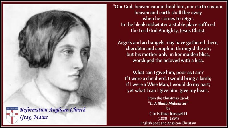 Anglican Hymn writer - Christina Rossetti
